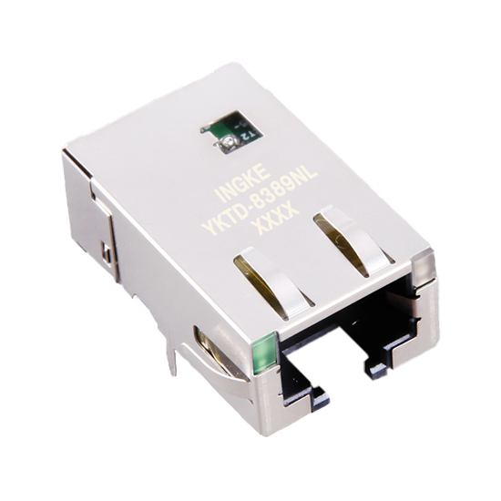 10G Base-T 1 Port Tab Down RJ45 Modular Jack Connector