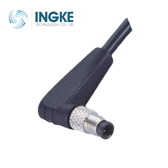 M5 Circular Connector Male Molded Cable Angled Plug IP67 Waterproof