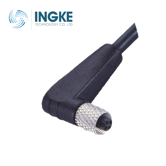 M5 Circular Connector Female Molded Cable Angled Plug IP67 Waterproof