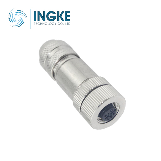 M12 Circular Connector IP67 Waterproof Sensor Socket with Shielded