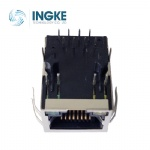 100Base-T Tab Down RJ45 Magjack Connector with Y-G LED