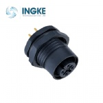 M12 Circular Connector Front Panel Mount Waterproof Plastic Socket