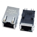 10/100Base-T RJ45 Ethernet Connector Tab Up with LED and EMI Finger