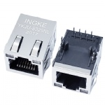 10/100Base-T RJ45 Ethernet Connector with LED and EMI Finger