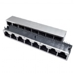 1x8 Ports RJ45 Modular Jack Tab Down without Magnetic